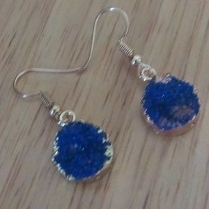 Jewelry - Blue Druzzy Earrings